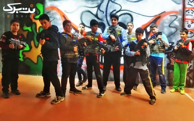 بازی لیزر تگ در مجموعه ورزشی کاج سرخه حصار