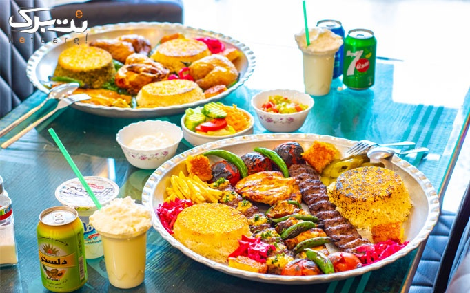 سینی سه نفره و دو نفره در رستوران تبریزیان