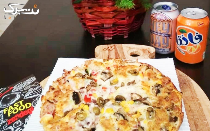 پیتزا پپرونی و مخلوط در فست فود زندگی