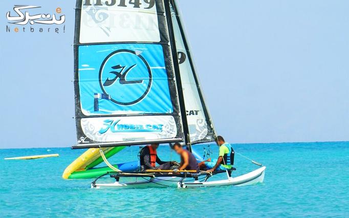 قایق بادبانی در مارینا کاسپین