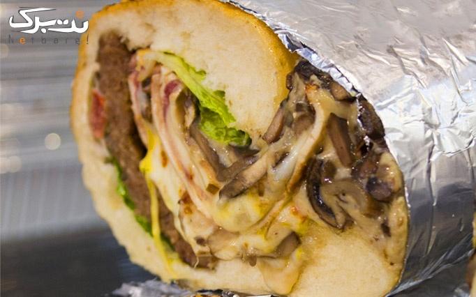 انواع غذاهای خوشمزه در ساندویچ بمبی محمد