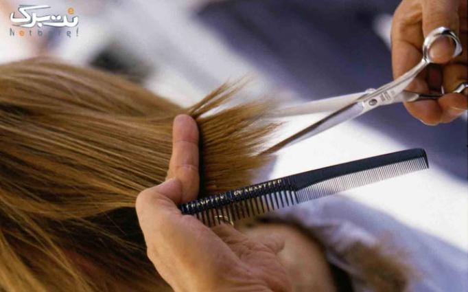 کوپ مو و اصلاح ابرو در آرایشگاه بانوی تک
