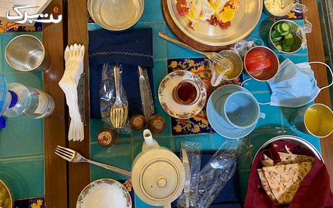 بوفه صبحانه خوشمزه و لذیذ در رستوران پنج دری