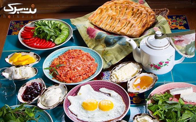 بوفه صبحانه ررستوران پنج دری ویژه 4 شهریور ماه