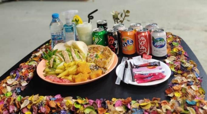 سینی ویژه فست فود در کافه رستوران پابلو