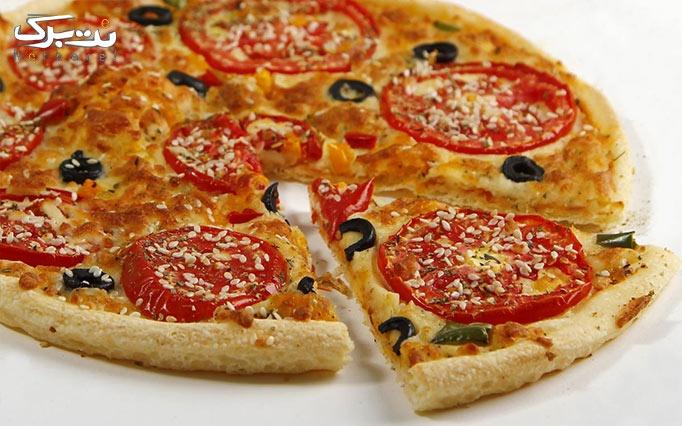 بیف برگر با انواع پیتزا و ساندویچ