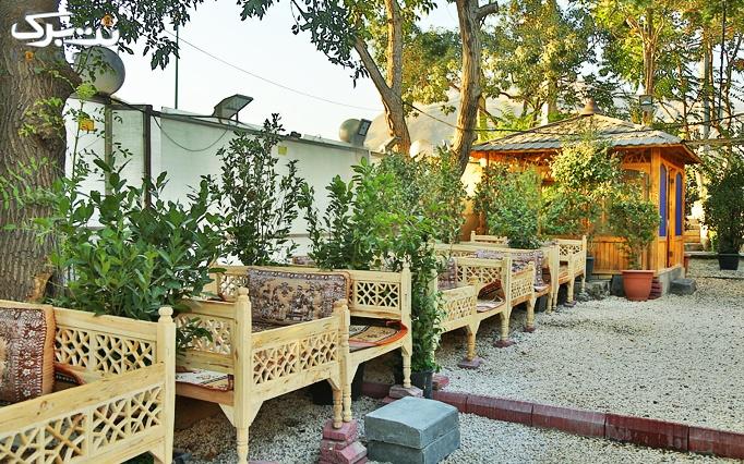 باغچه رستوران کوچه باغ با منوی غذاهای ایرانی