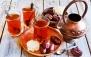 سفره خانه آبی یخی با سرویس چای سنتی دو نفره