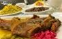 چلو گوشت لذیذ و خوشمزه در رستوران هنگامه