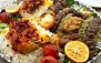 سینی غذای ایرانی در رستوران یکتا