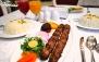 منو غذایی و سالادبار در رستوران vip آبنوس