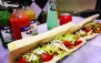 منو ساندویچ نیم متری در فست فود آرش