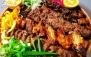 منو باز انواع غدا در باغ رستوران بهشتی فرحزاد